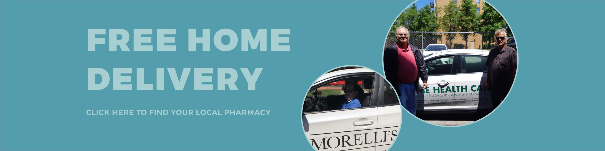 free home prescription delivery throughout the Greater Toronto Area.